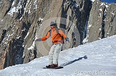 High Mountain snowboarding