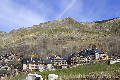 High mountain village