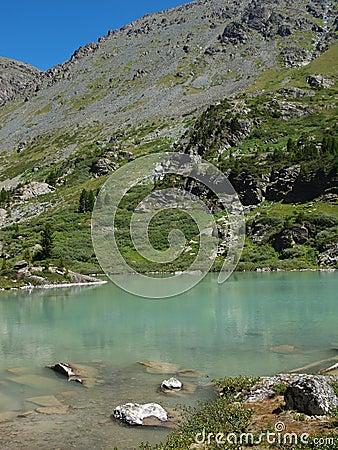 High-mountainous lake Kuiguk