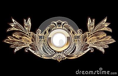 High Ornate Gold Ring