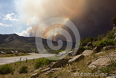 High Park Fire Editorial Stock Image