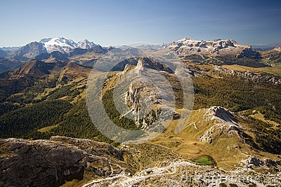 High peaks in the Dolomites