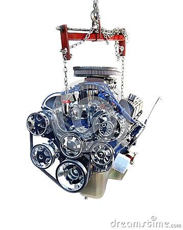 High Performance Chrome V8 Engine on hoist