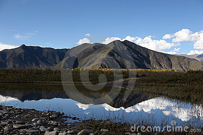 High plateau scenery in Tibet