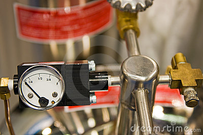 High pressure valve and gauge