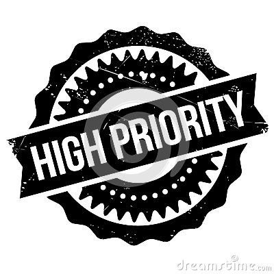 Free High Priority Stamp Royalty Free Stock Photo - 82605645
