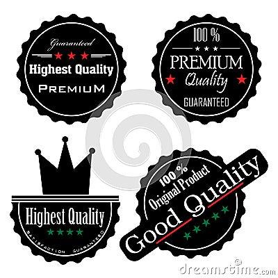 High quality black stickers