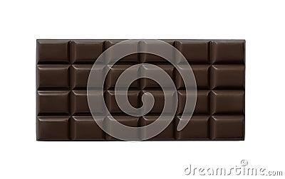 High quality dark chocolate bar isolated