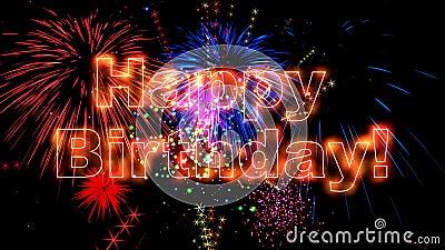 High Quality Happy Birthday Animation 4k Stock Video