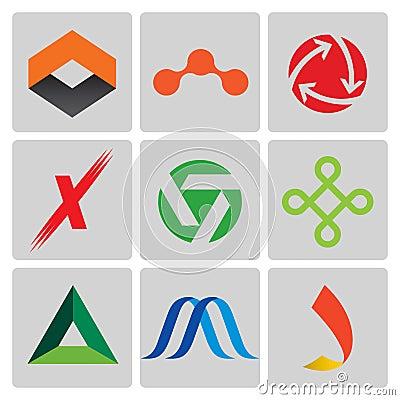 9 Vector logo elements orange  X Logo Download
