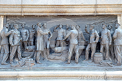 High relief of defensive of Sevastopol Editorial Stock Image
