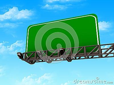 High res. blank road billboard