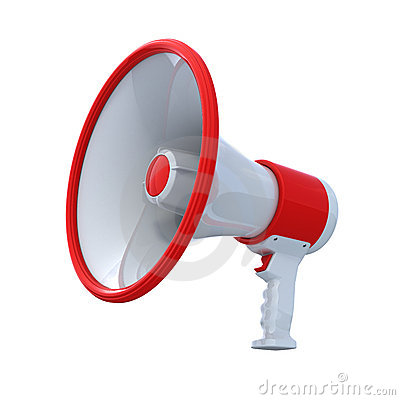 Free High Resolution Bullhorn Stock Photo - 10576940
