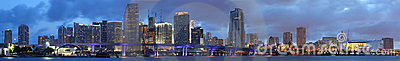 High Resolution Panorama, Downtown Miami Florida