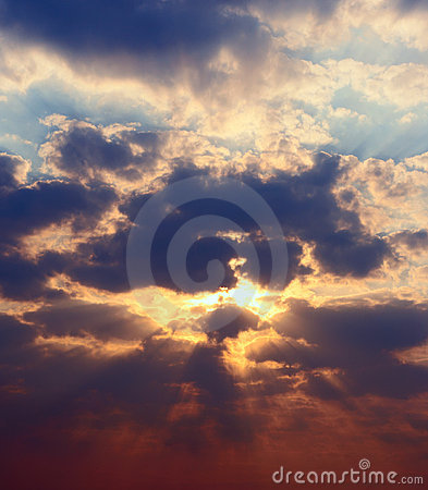 High rez picture sunset sky