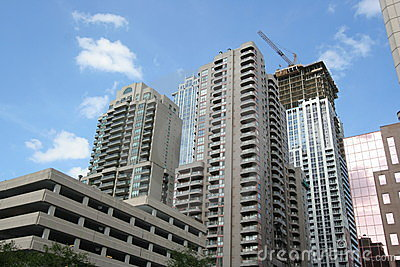 High rise apartment buildings