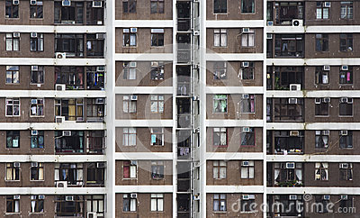 High rise apartments in Hong Kong