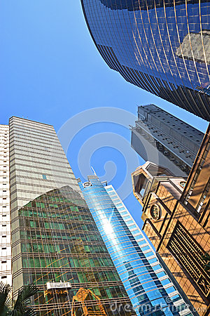 Free High Rise Building With Glass Panel And Reflection Royalty Free Stock Image - 48436496