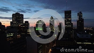 High Rise Buildings With Lights On Free Public Domain Cc0 Image