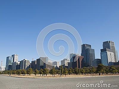 High rise buildings in Marunouchi, Tokyo, Japan