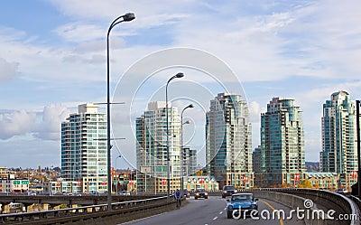 High rise city sky