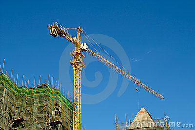 High rise construction site
