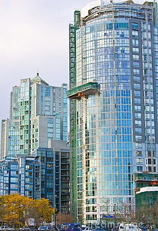 High rise glass tower