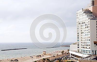 high rise hotel  Mediterranean sea Tel Aviv
