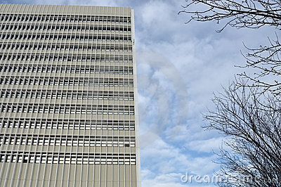 High-rise office building