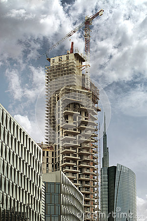 Free High Rise Under Construction Stock Photos - 34639853