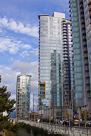 High rise in Vancouver towers
