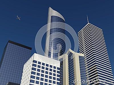 A high rise vista of a modern city