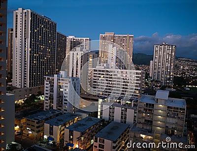 High rises in Honolulu Hawaii