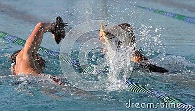 High schoo;l swimmers