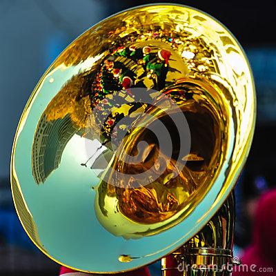 Free High School Band Tuba Player Stock Images - 36263634