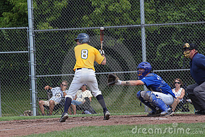 High School Baseball Editorial Stock Image