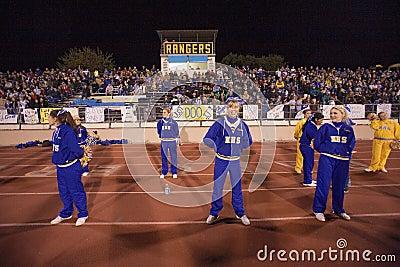 High school cheerleaders Editorial Stock Photo