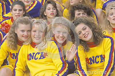 High school cheerleaders Editorial Image