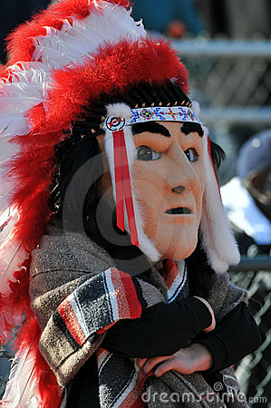 High school football mascot - Native American Editorial Photography