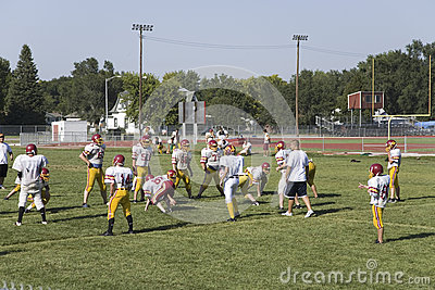 High school football team practicing Editorial Image