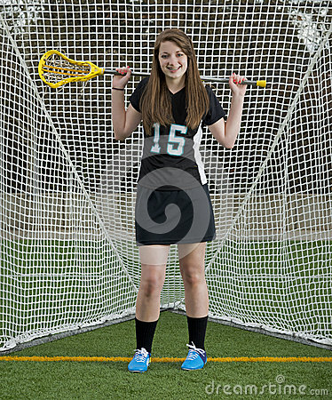 High School Girls Lacrosse player