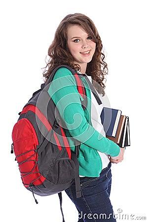 Free High School Happy Teenage Student Girl Big Smile Royalty Free Stock Image - 22029236