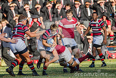 High School Rugby Action Editorial Photo
