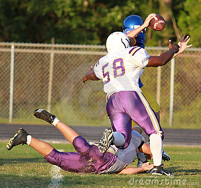 High School Spring Football Editorial Photography