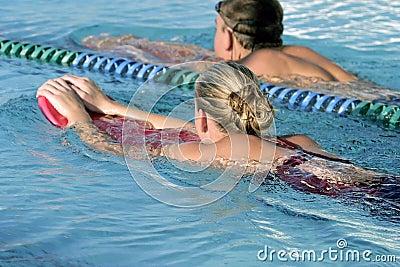 High school swimmers