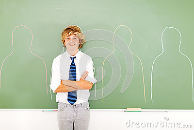 High school teen