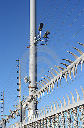 Free High Security Fence Royalty Free Stock Image - 9707946
