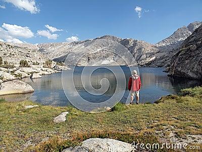 High Sierra Lake Hiker
