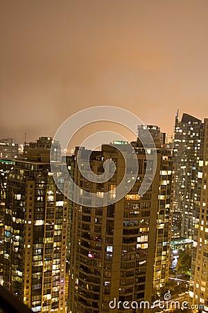 High skyline buildings