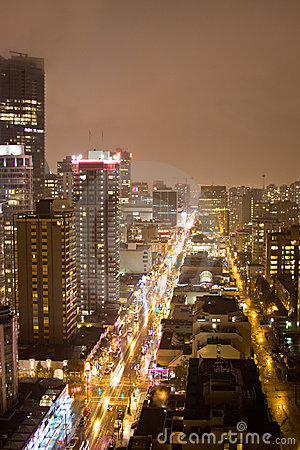 High skyline night